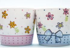 Two cups Royalty Free Stock Images