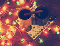 Two cups of mulled wine Royalty Free Stock Photography
