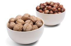 Walnut in the foreground Royalty Free Stock Images