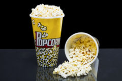 Two cups of popcorn Stock Image