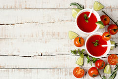 Two cups of red healthy drink Stock Photography