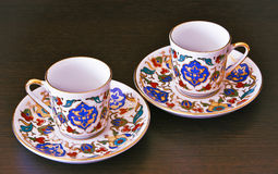 Two cups and saucers Stock Image