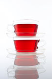 Two cups of tea Stock Photography