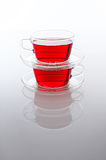 Two cups of tea Stock Photos