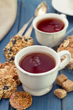 Two cups of tea Stock Images