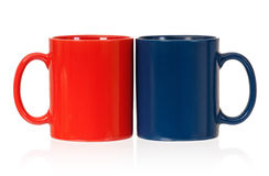 Two cups. For tea or coffee, isolated on white background Stock Images