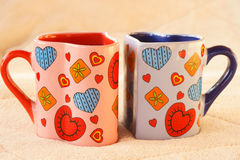 Two cups of tea. For lover Royalty Free Stock Photo