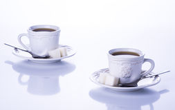 Two cups of tea Royalty Free Stock Photography