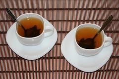 Two cups of tea Stock Photo