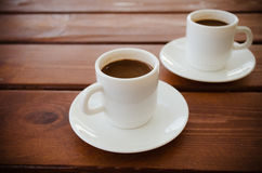 Two cups of turkish coffee on the table Royalty Free Stock Images