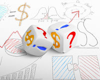 Two currency dices Royalty Free Stock Photography