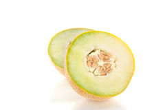 Two Cut Half Pieces Of Melon Stock Photography