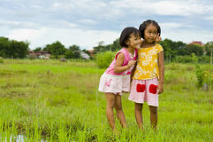 Two cute asian girls Stock Photography