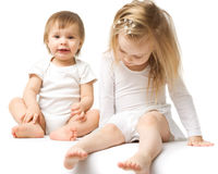 Two cute babies Stock Photos