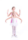 Two cute Ballerinas Royalty Free Stock Images