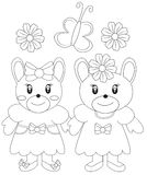 Two Cute Bear Illustration Stock Photography
