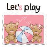 Two Cute Bears Stock Image
