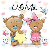 Two Cute Bears Royalty Free Stock Images