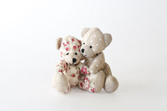 Two cute bears hugging Royalty Free Stock Image