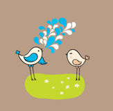 Two cute birds Royalty Free Stock Photography
