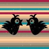 Two cute birds Stock Photos