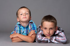 Two cute brother Stock Photography