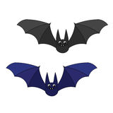 Two cute cartoon bats. Royalty Free Stock Photos