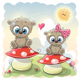 Two Cute Cartoon bears Royalty Free Stock Image