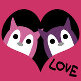 Two cute creatures in love Royalty Free Stock Photos