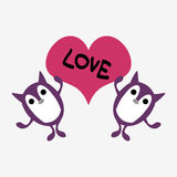 Two cute creatures in love Stock Images