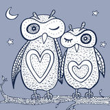 Two cute decorative owls. Stock Image
