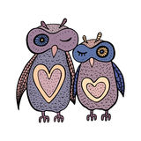 Two cute decorative owls. Stock Photography