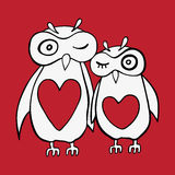 Two cute decorative owls. Stock Images