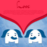 Two cute elephants in love Royalty Free Stock Photography