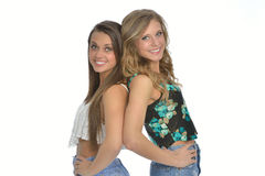 Two cute female friends Royalty Free Stock Photography