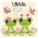 Two Cute Frog Royalty Free Stock Images