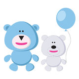 Two cute funny bears Royalty Free Stock Photography