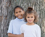 Two Cute Girls Royalty Free Stock Images