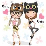 Two Cute Girls Stock Photo