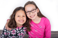 Two cute girls Stock Photography