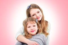Two cute girls Stock Photo