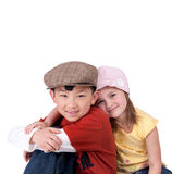 Two cute kids Stock Images