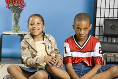 Two cute kids Royalty Free Stock Image