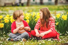 Little kids portrait Royalty Free Stock Photography