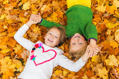 Two cute kids outdoors Stock Photography