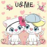 Two cute Cartoon Kittens vector illustration