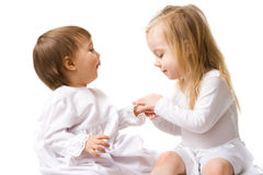 Two cute little girls Royalty Free Stock Photography