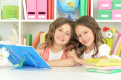 Two cute little girls Royalty Free Stock Photo
