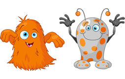 Two cute little monsters. Illustration of two cute little monsters Stock Photos