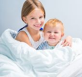 Two cute little sisters Royalty Free Stock Images